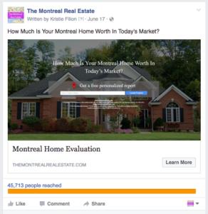 Facebook Home Evaluation Ad