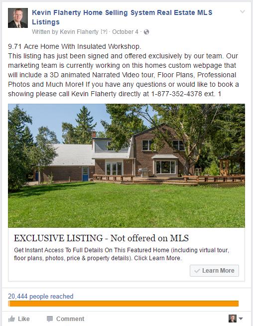 SuccessWebsite Facebook Lead Ad For Featured Listing