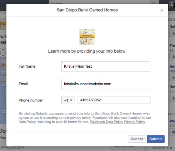 Facebook Lead Ads for Home Buyers - SuccessWebsite
