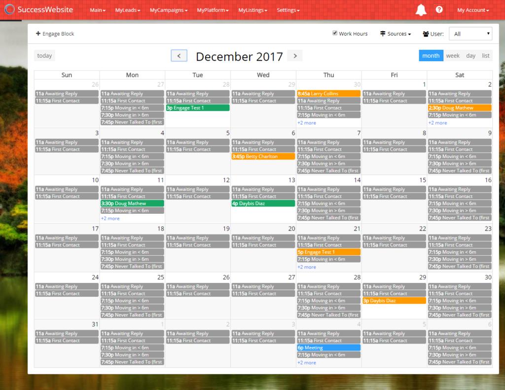 SuccessEngage - Calendar Blocks Example