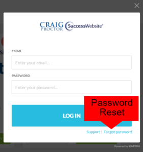 Member Portal login screen.
